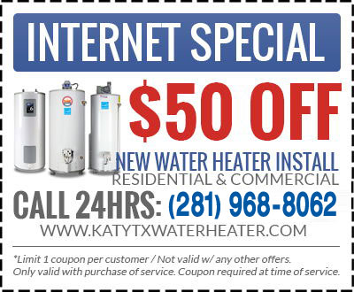 katy water heater coupon
